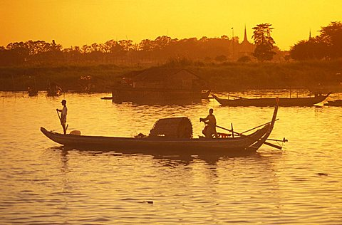 Mekong river, Phnom Penh, Cambodia, Indochina, Southeast Asia, Asia