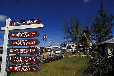 Road sign, Grand Cayman island, Cayman Islands, West Indies, Central America