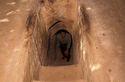 Cu Chi tunnel, Saigon, Vietnam, Indochina, Southeast Asia, Asia