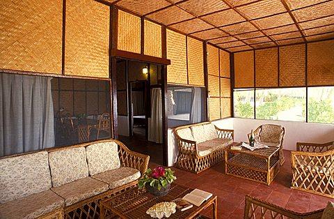 Room, Bangaram Resort hotel, Laccadive islands, India, Asia