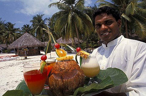 Tropical drinks, Laccadive islands, India, Asia