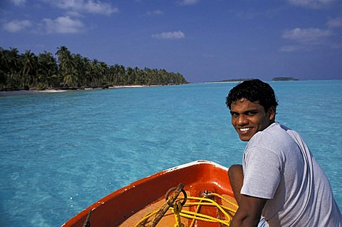 Local man, Laccadive islands, India, Asia