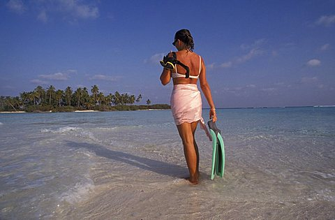 Beach between Parali 1 and Parali 2 islands, Laccadive island, India, Asia
