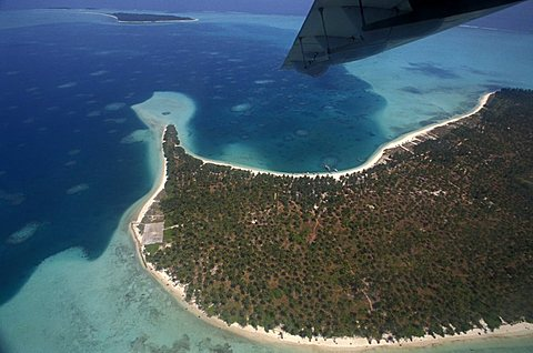 Aerial view of Laccadive islands, India, Asia