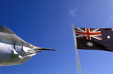 Australian flag and a fish, Australia