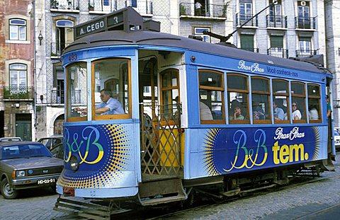 Local Portuguese tram, Portugal, Europe