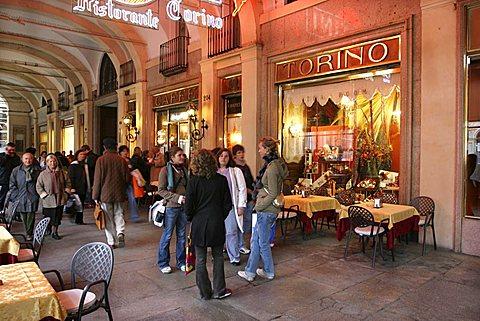 Cafè Torino, San Carlo square, Turin, Piedmont, Italy