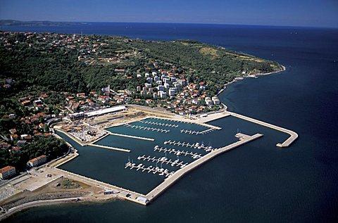 Aerial view, Muggia, Friuli Venezia Giulia, Italy