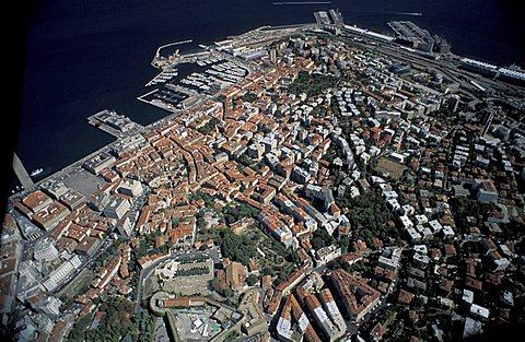 Aerial view, Trieste, Friuli Venezia Giulia, Italy