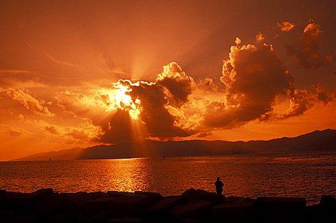 Sunset, Reggio Calabria, Calabria, Italy