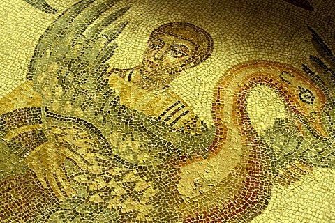 """Mosaic """"La Grande Caccia"""", Villa del Casale, Piazza Armerina, Sicily, Italy"""
