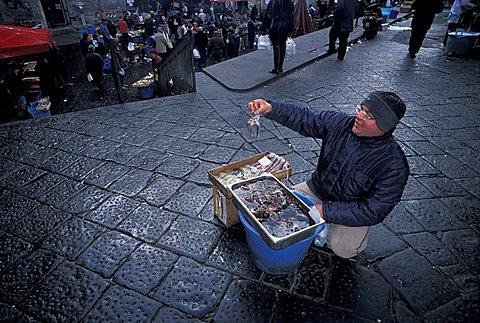 Pescheria fish market, Catania, Sicily, Italy
