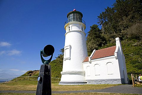 Heceta Head Lighthouse, Oregon Coast, United States of America (U.S.A.), North America