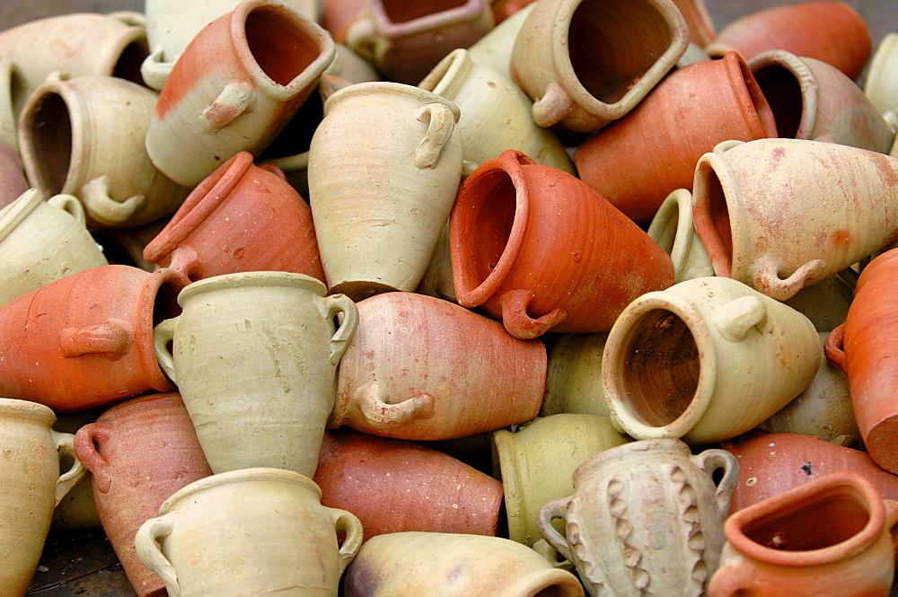 Vases, Sidi Bou Said, Tunisia, North Africa, Africa