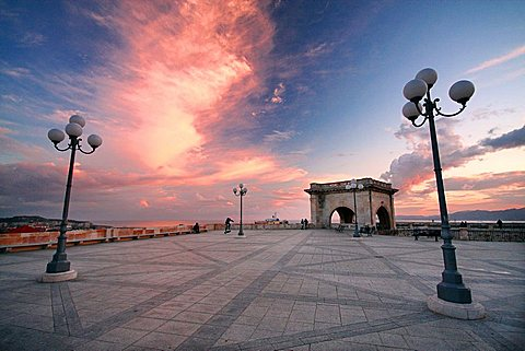 San Remy bastion, Cagliari, Sardinia, Italy, Europe