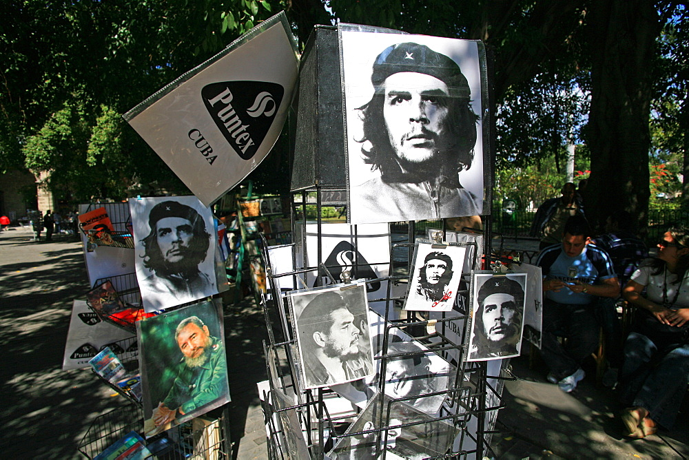 Che Guevara poster, Havana, Cuba, West Indies, Central America