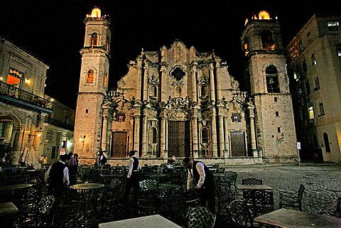 Catedral de San Cristobal, Havana, Cuba, West Indies, Central America