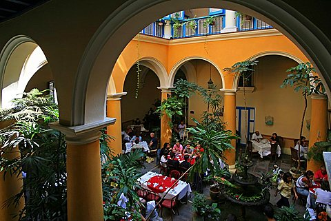 El Patio restaurant, Havana, Cuba, West Indies, Central America