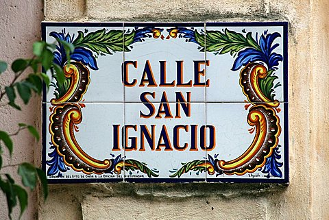 Road sign, Havana, Cuba, West Indies, Central America
