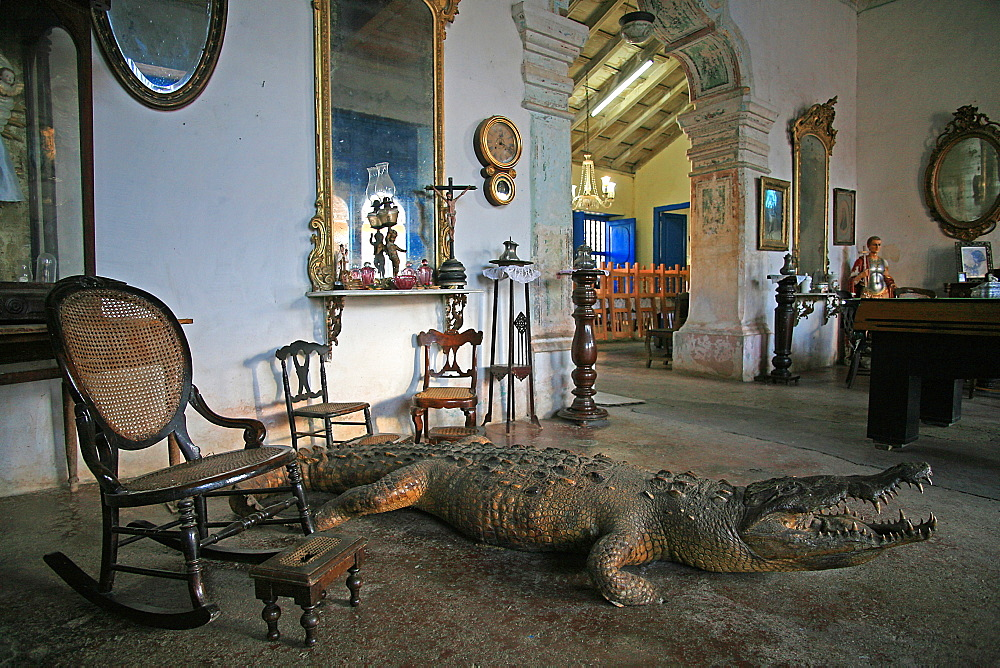 Crocodile house, Trinidad, Cuba, West Indies, Central America