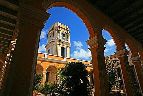 Courtyard, Palacio Cantero, Trinidad, UNESCO World Heritage Site, Cuba, West Indies, Central America