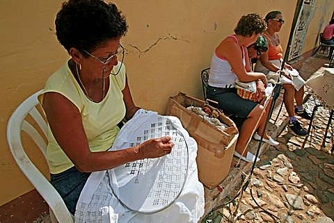 Embroiderers, Trinidad, Cuba, West Indies, Central America