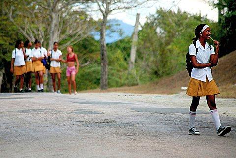 Students, Santiago de Cuba, Cuba, West Indies, Central America