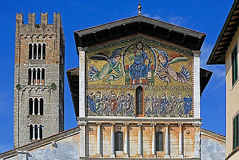 San Frediano church, Lucca, Tuscany, Italy, Europe