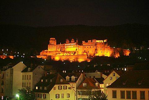 Castle, Heidelberg, Baden-Wurttemberg, Germany, Europe