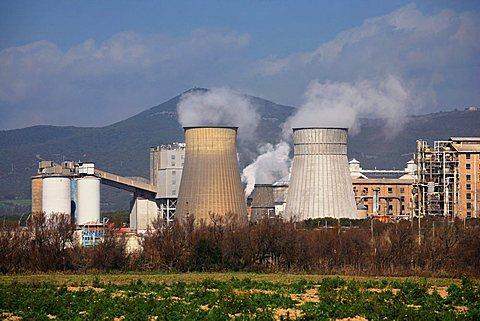 Chemical industry, Rosignano Solvay, Tuscany, Italy, Europe