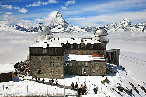 Observatory, Gornergrat, Zermatt, Valais, Switzerland, Europe