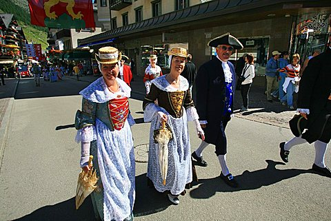 Folklore, Zermatt, Valais, Switzerland, Europe