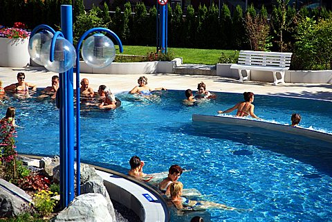 Thermal baths, Leukerbad, Vallese, Switzerland, Europe