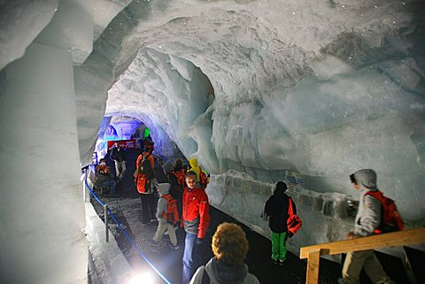 Under the glacier, Saas-Fee, Vallese, Switzerland, Europe