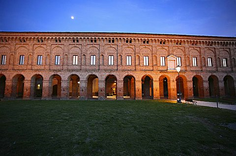 Gallery of the Ancient at the dusk, XVI sec, Galleria degli Antichi, Sabbioneta, Mantova, Lombardy