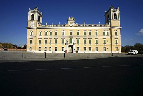 Façade, The Ducal Palace of Colorno also know as Reggia di Colorno, 18th Century, Colorno, Parma, Emilia Romagna, Italy