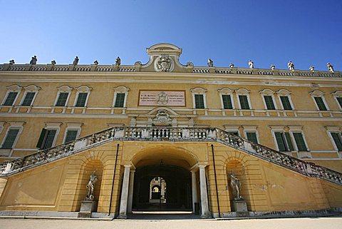 Façade,The Ducal Palace of Colorno also know as Reggia di Colorno, 18th Century, Colorno, Parma, Emilia Romagna, Italy