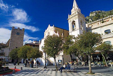 IX Aprile square, Taormina, Sicily, Italy