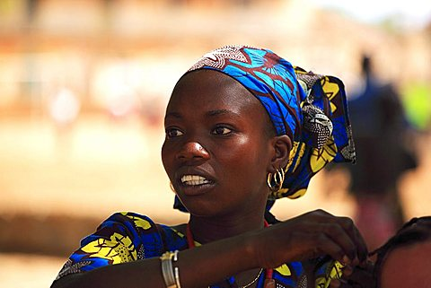 Typical african plaits, Gorèe island, Dakar, Republic of Senegal, Africa