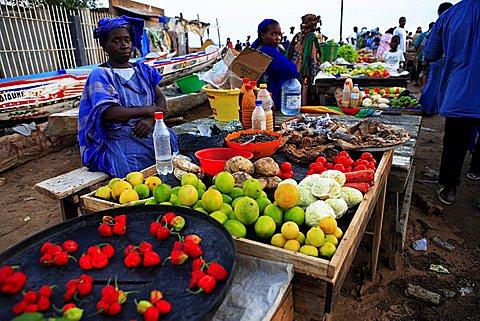 Fish market, Soumbédioune, Republic of Senegal, Africa