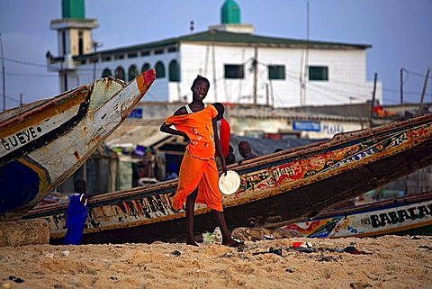 Beach on Atlantic Ocean, Saint-Louis, Republic of Senegal, Africa