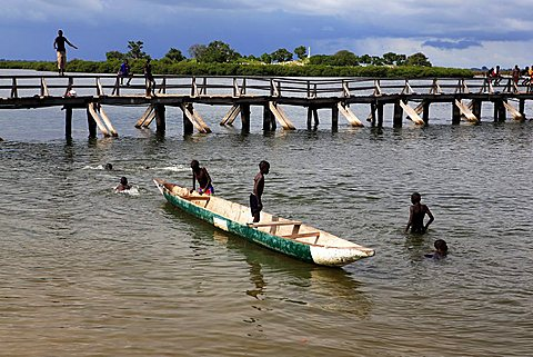 Daily life, Joal-Fadiouth, Republic of Senegal, Africa