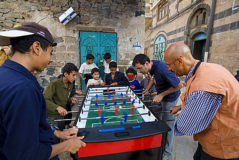 Yemen - Italy table football match, Sana'a, Yemen, Middle East