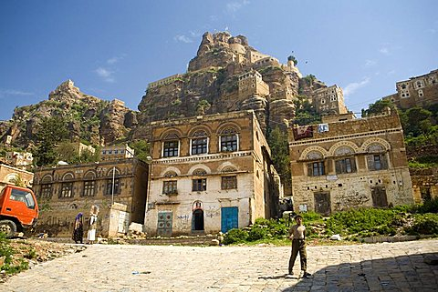 Village view, Al Tawila, Yemen, Middle East   - 746-53855