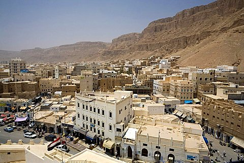 Cityscape from Sultan Palace, Seyun, Yemen, Middle East