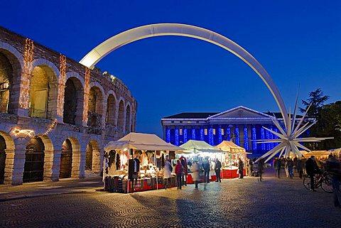 Arena di Verona, Brà square, Verona, Veneto, Italy