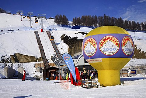 Ski-lifts, Livigno, Lombardy, Italy