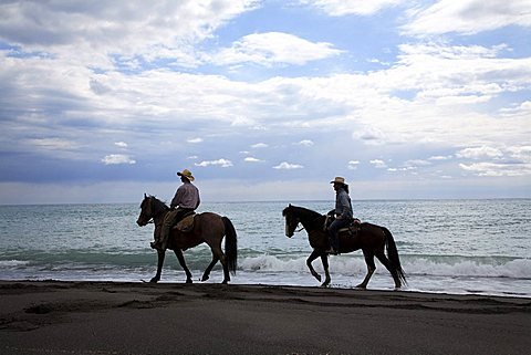 Excursion with horse, Castrocucco beach, Maratea, Basilicata, Italy