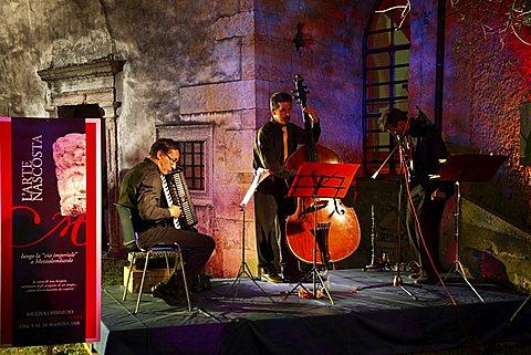 Concert, Calici di Stelle feast, Mezzolombardo, Trentino, Italy