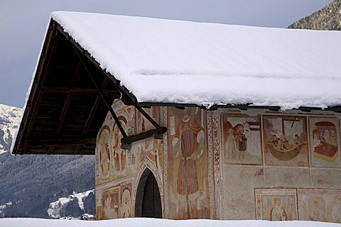 San Antonio Abate church, Pelugo, Val Rendena, Trentino Alto Adige, Italy